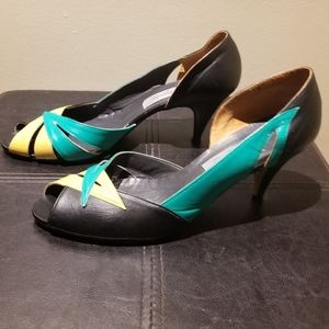 Vintage GEPINI ITALY Leather Heels (Size 7.5)